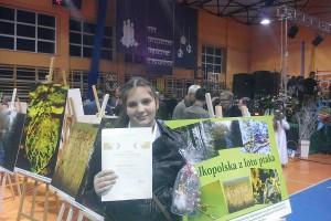 Nina Omerovic- zdobywczyni I miejsca w Powiatowym Konkursie na najpiękniejszą e-kartkę Bożonarodzeniową